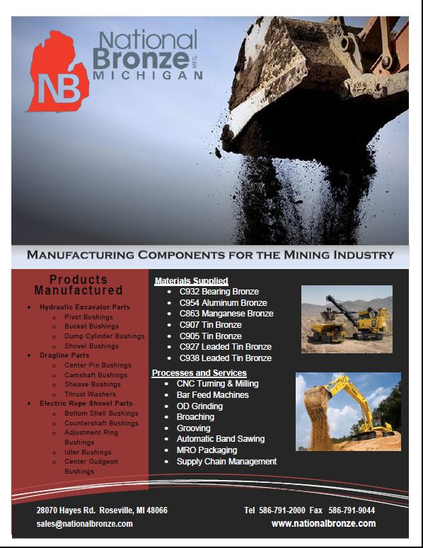 bronze mining components