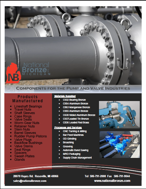 pump and valve bronze components