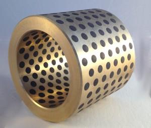 graphite plugged bronze sleeve bearing