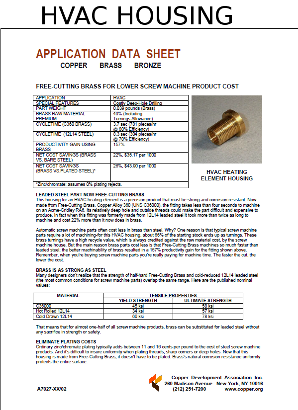 C36000 Free Cutting Brass Bar | National Bronze Mfg