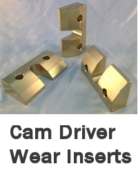 cam driver wear inserts
