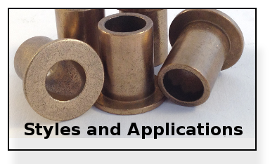 Sintered bronze bearings styles and application